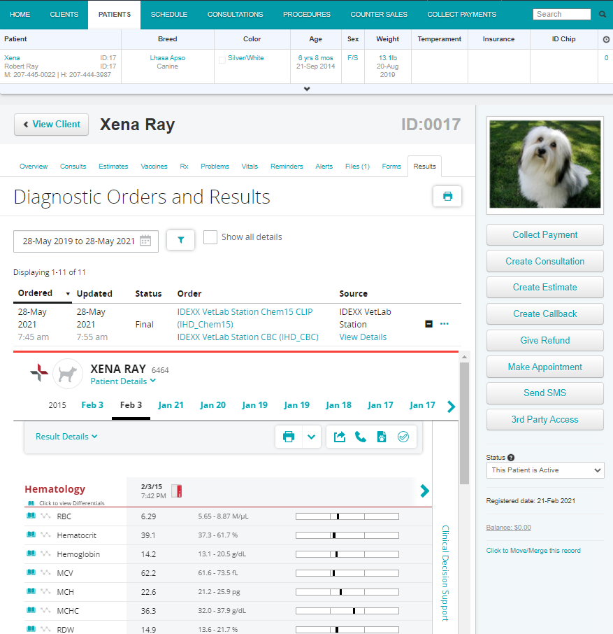 Patient Record: Neo puts patient information and key tasks right where you need them.