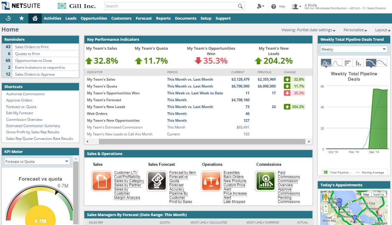 NetSuite CRM screenshot