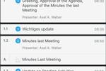 Capture d'écran pour Sherpany : Sherpany meeting agenda overview