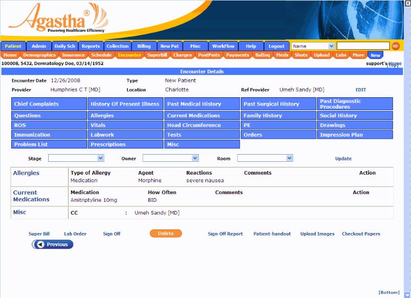 Agastha EHR Software - Homepage