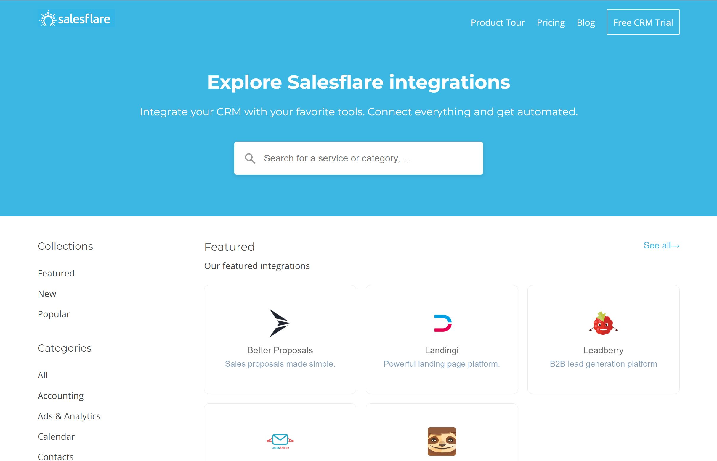 Salesflare integrates seamlessly with your emails, calendar, phone, ... but also with 2000+ other apps. It integrates with Zapier, Integromat, PieSync, ... so you can easily hook up any other tool you're using and streamline your processes.