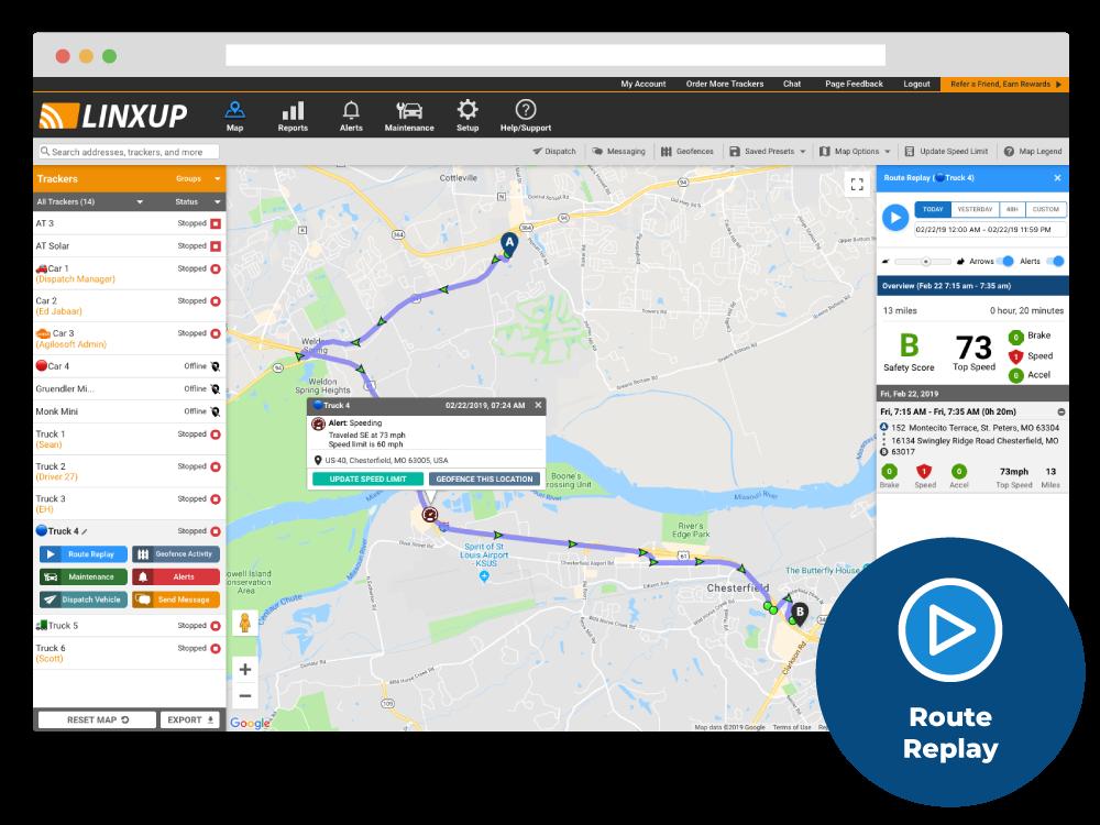 Linxup live map