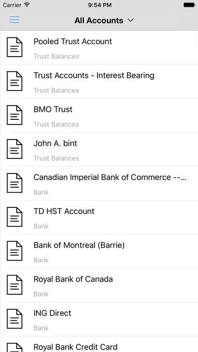 Access all accounts and documents from a mobile device