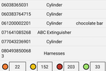 Pervidi Inspection screenshot: Track any type of asset via mobile phone with integrated barcodes