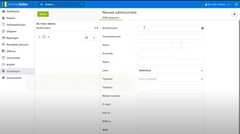 InformerOnline adding a new administrator