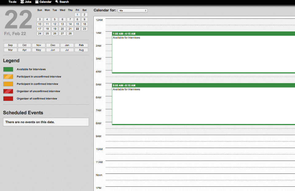 Automated interview scheduling with reminders
