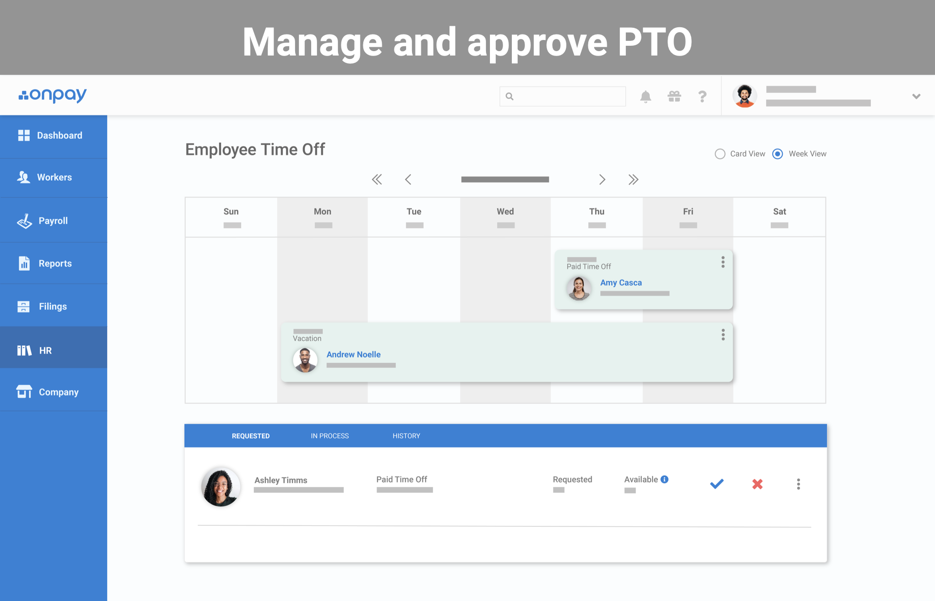 Easy PTO approvals