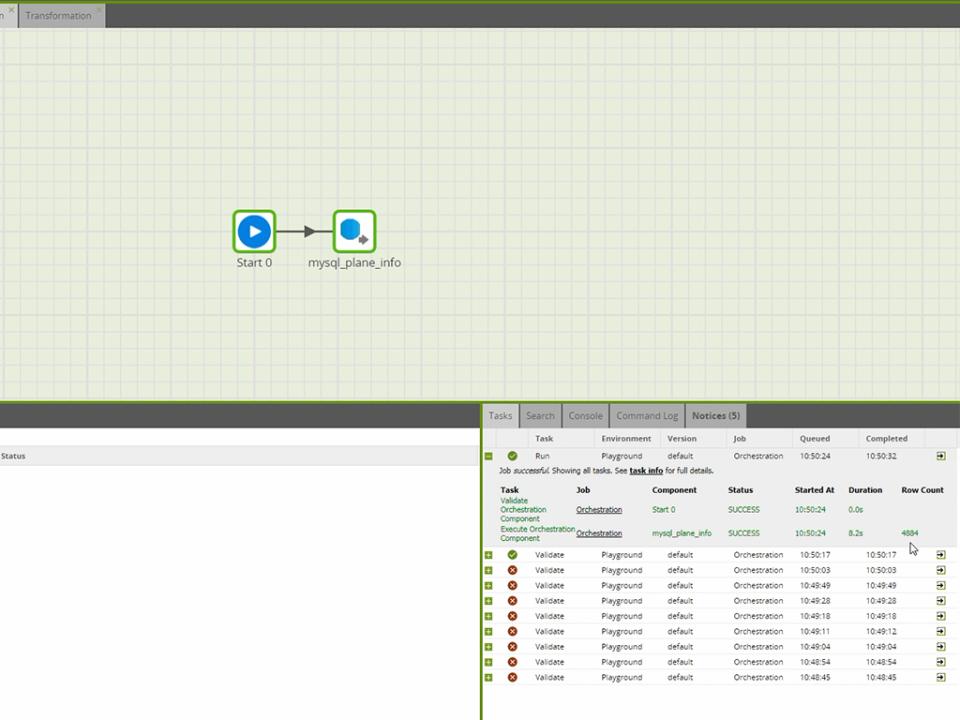 Matillion RDS query screenshot