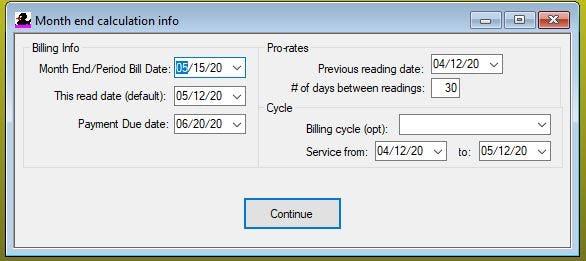 QuikWater Software - Bill screen calculation %>
