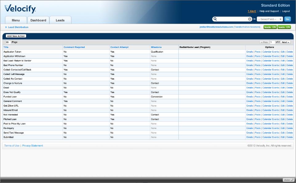 Velocify Software - 1