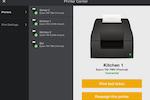 Upserve screenshot: Printing checks on Upserve POS
