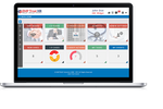 EMP Trust HR screenshot: Main dashboard hero shot shown on MacBook laptop device