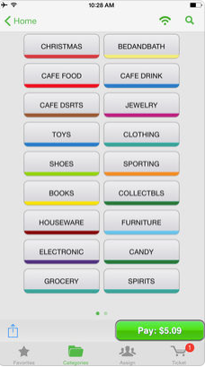 NCR Silver Software - Categorization of catalog
