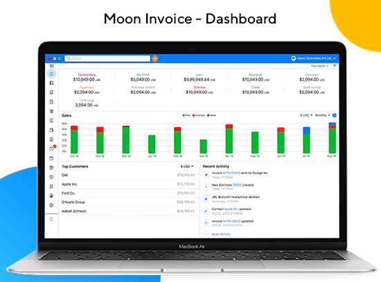 Moon Invoice screenshot