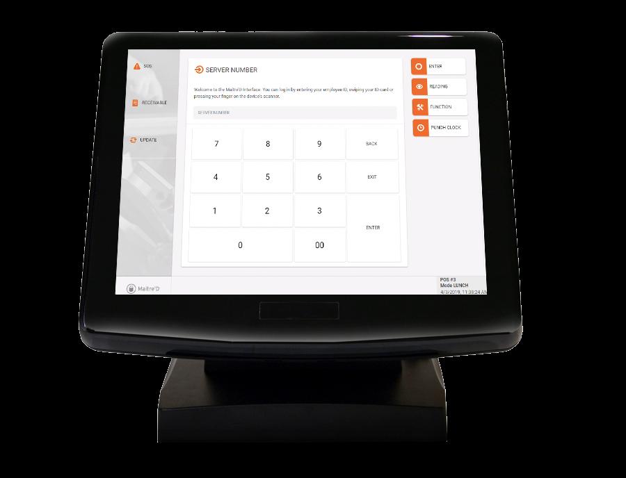 Maitre'D Software - Maitre'D POS home screen