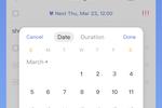 TickTick screenshot: TickTick task reminders