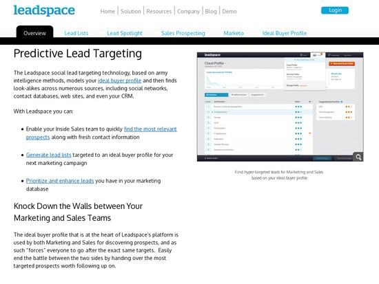 leadspace.com - CRM - Overview