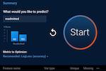 DataRobot screenshot: DataRobot initiating predictions process