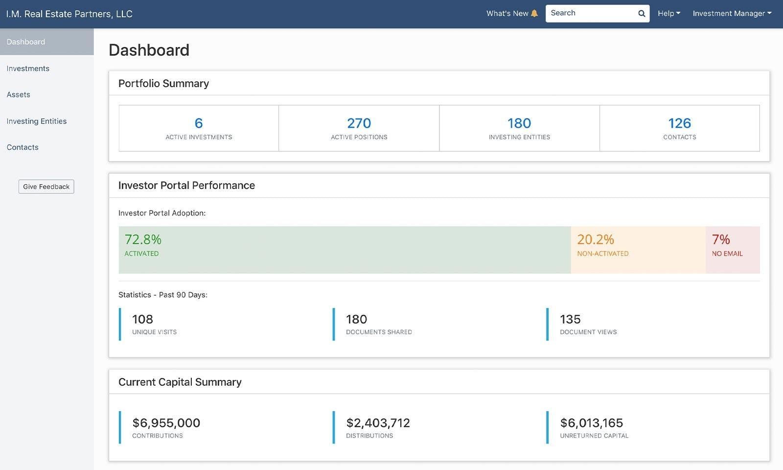 AppFolio Investment Management Software - AppFolio Investment Management dashboard