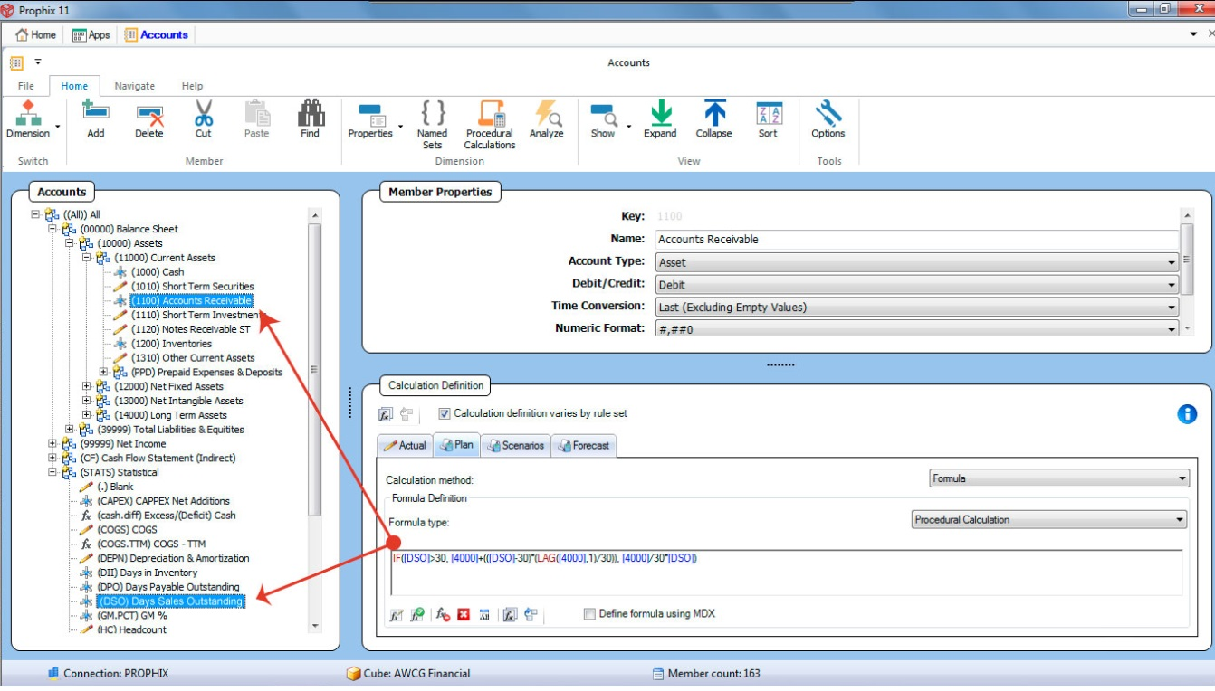 Prophix Software - Member properties