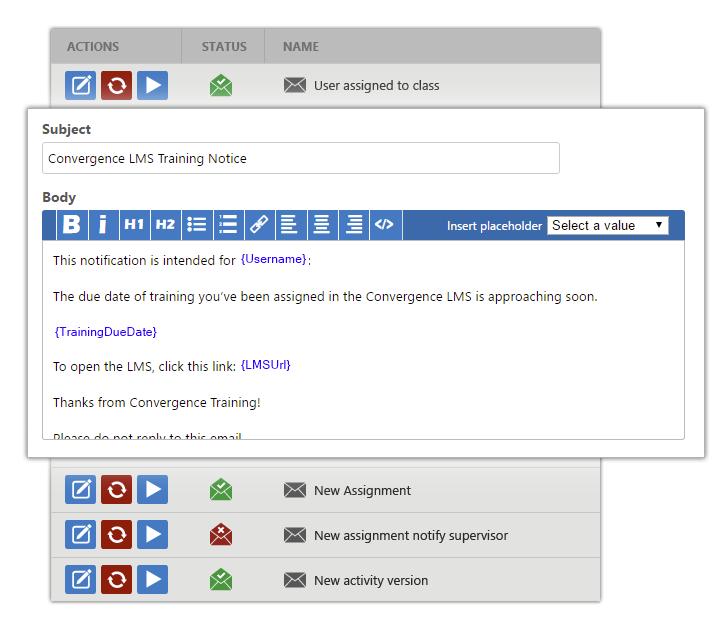 Customize notification templates