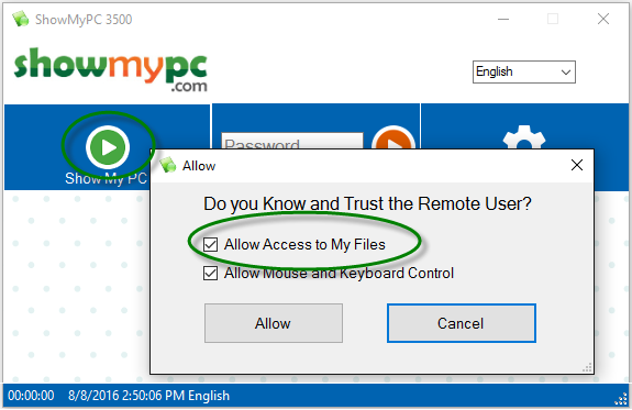 Remote Support and Meetings change file transfer