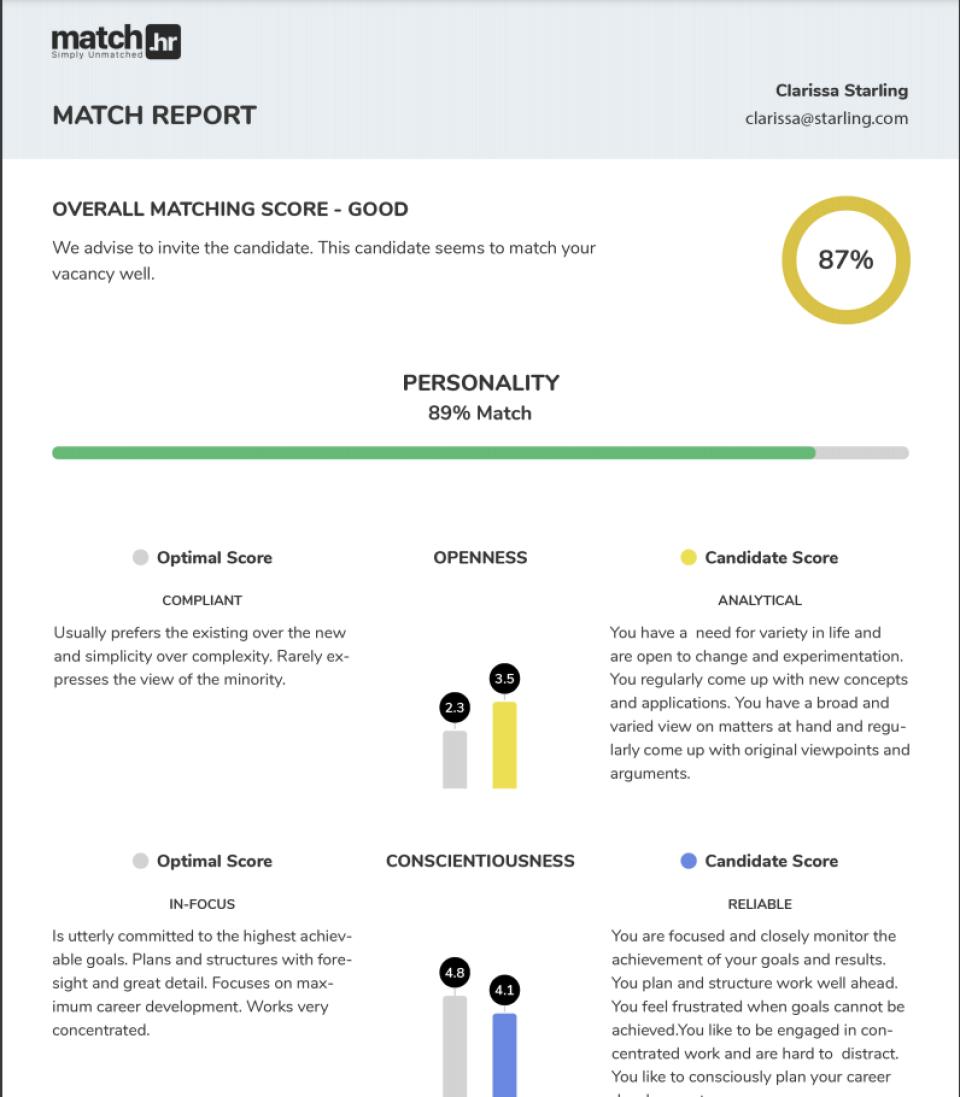 MatchHR Software - 4