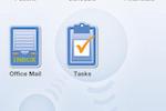 NephroChoice screenshot: View financials and tasks via OfficeEMR Mobile