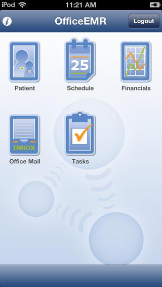 View financials and tasks via OfficeEMR Mobile