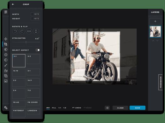Pixlr Software - Pixlr cropping