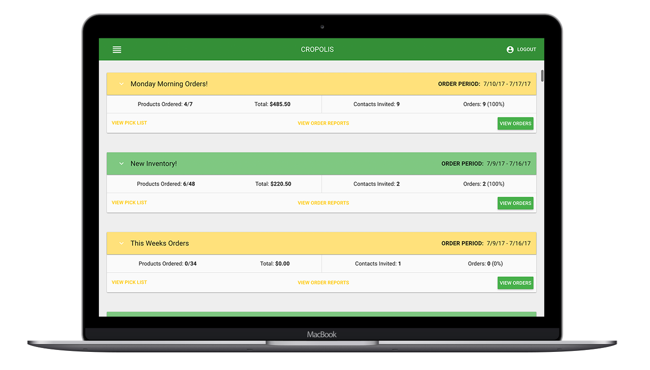 View and edit orders placed by customers and automatically generate pick lists with one click