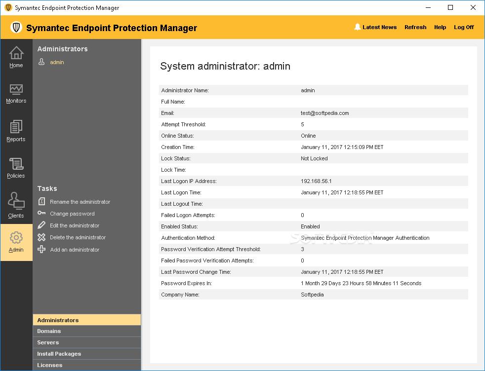 Symantec Endpoint Protection Admin