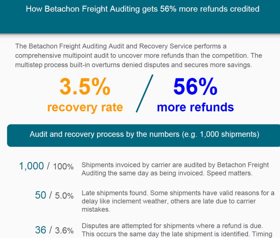 Betachon Freight Auditing Logiciel - 2