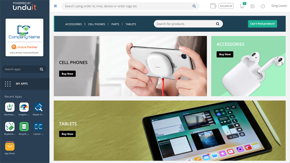 Unduit Wireless integrated marketplace