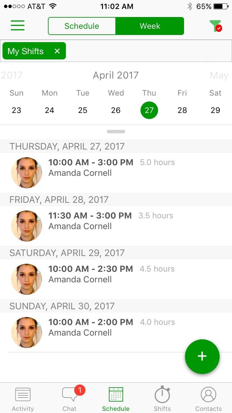 Branch Software - Branch - Schedule filter