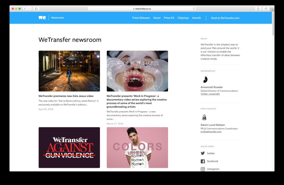 pr.co Software - Newsroom