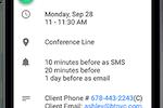 TimeTap screenshot: 2-way Google Calendar sync