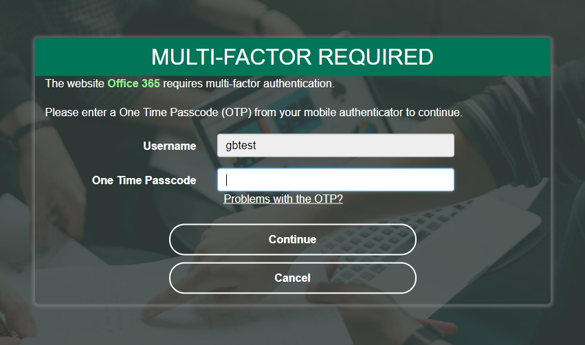 PortalGuard App-specific 2FA