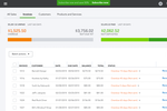 Quickbooks Online screenshot: Overdue and not-deposited invoices can be easily tracked