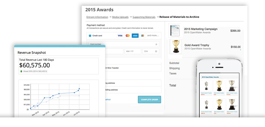 Turn every stage of the awards program into a revenue source and view results via the revenue engine
