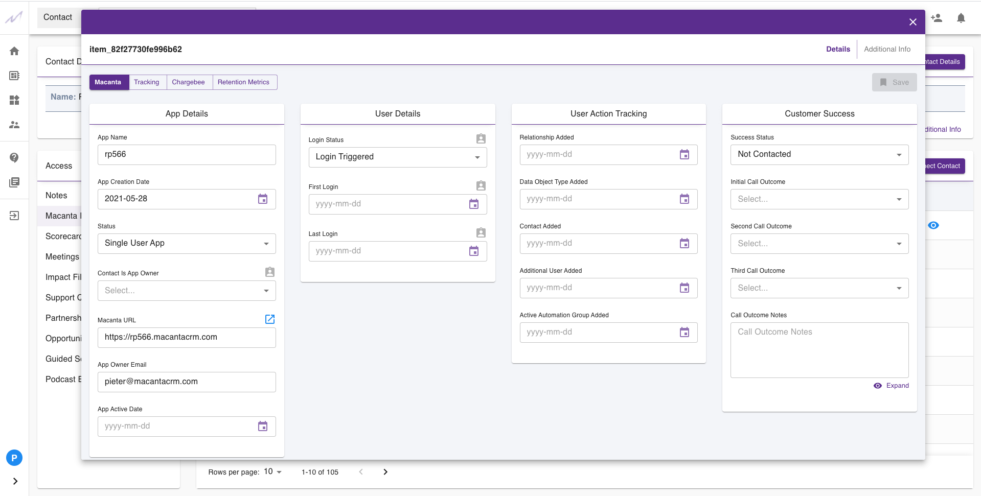 Create a custom interface layout for any and all data you need to hold on your prospects, customers and the additional data related to the running of your business and processes.