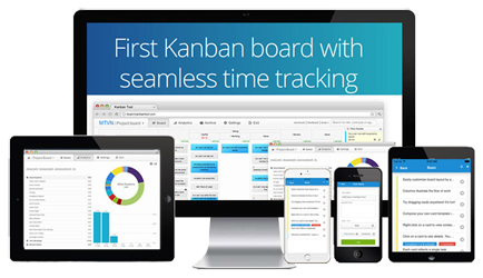 Kanban Tool can also be accessed from a free mobile application, for Android and iOS.