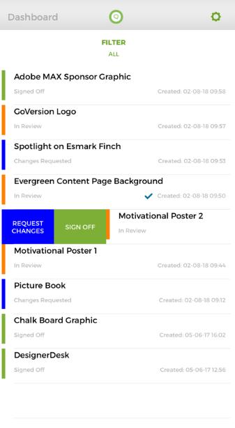 GoProof Software - GoProof dashboard