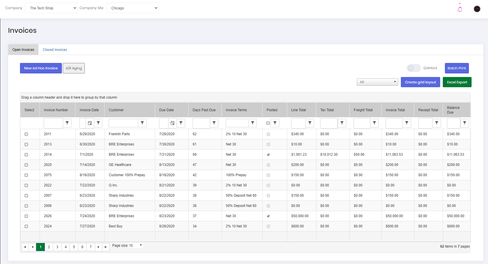Invoices with Real-Time Tracking
