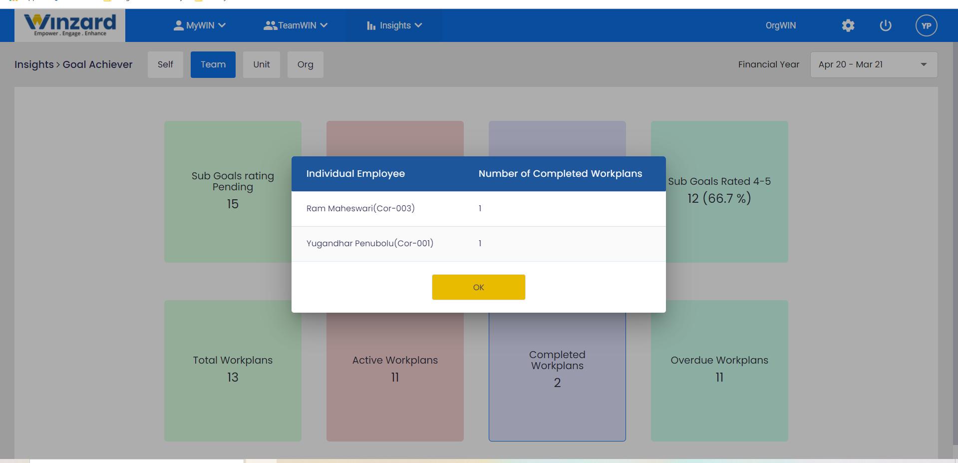 Winzard Software - Work planning and progress insights