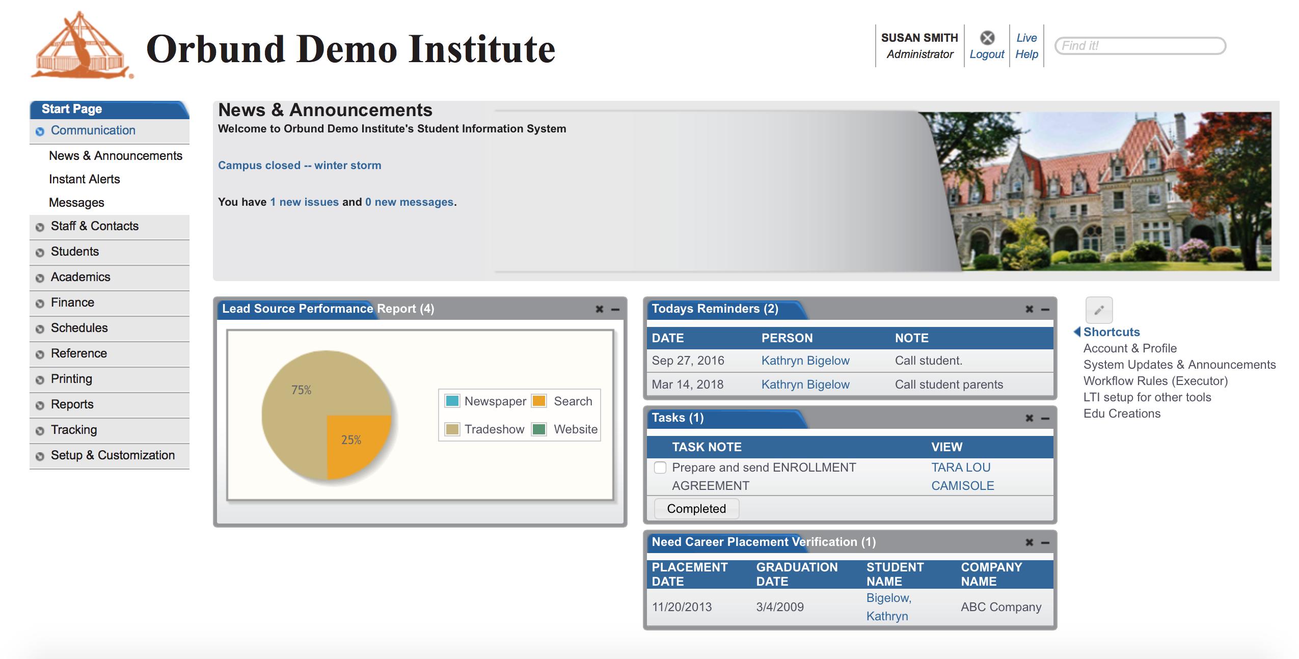 Edison - Administration Portal