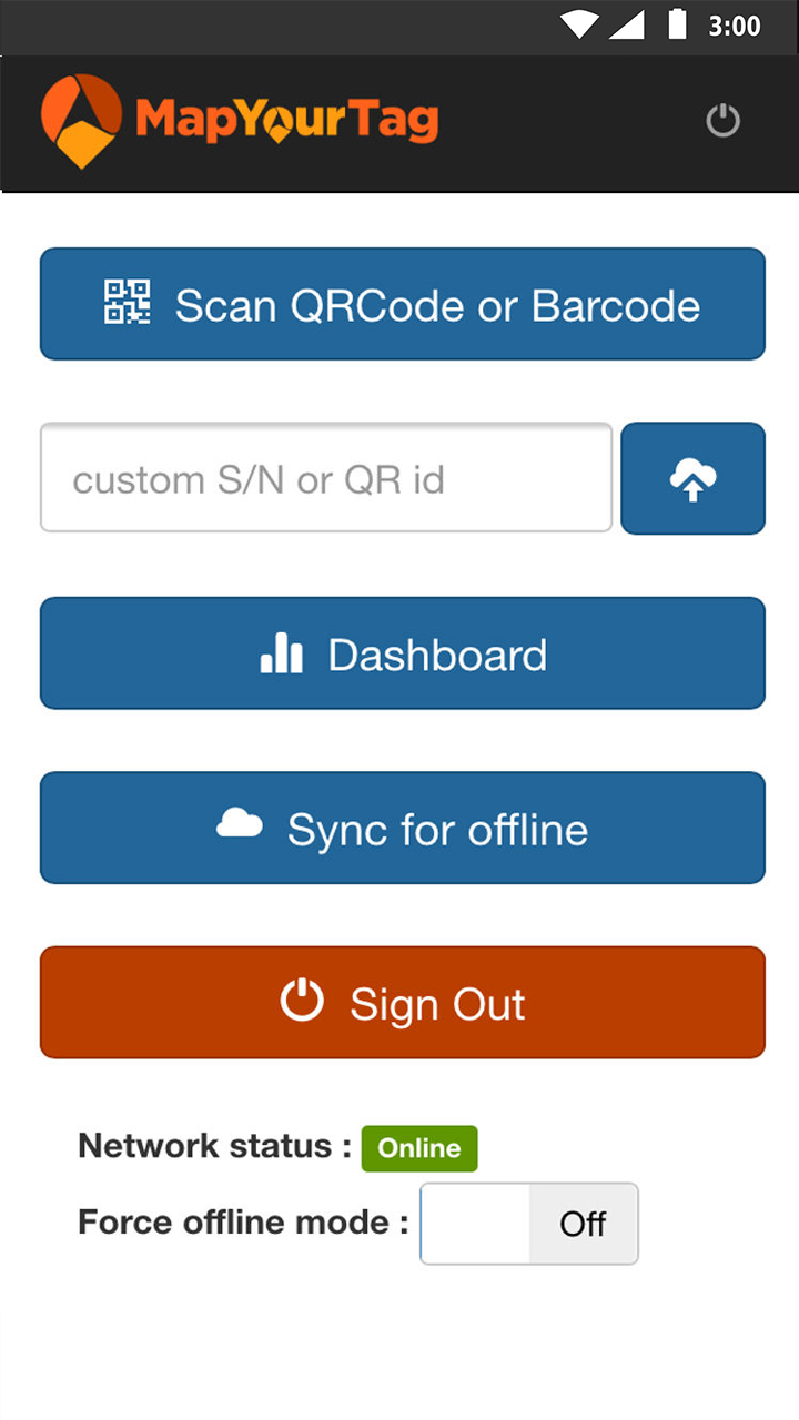 Mobile App home page