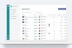 Cledara screenshot: Applications screen