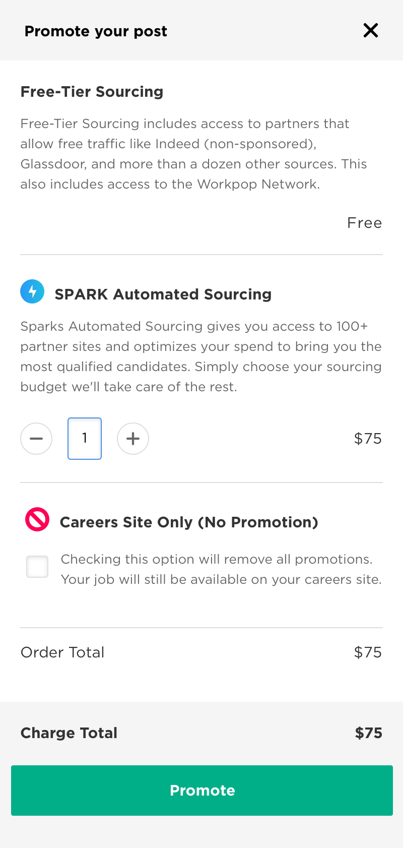 Promote your job