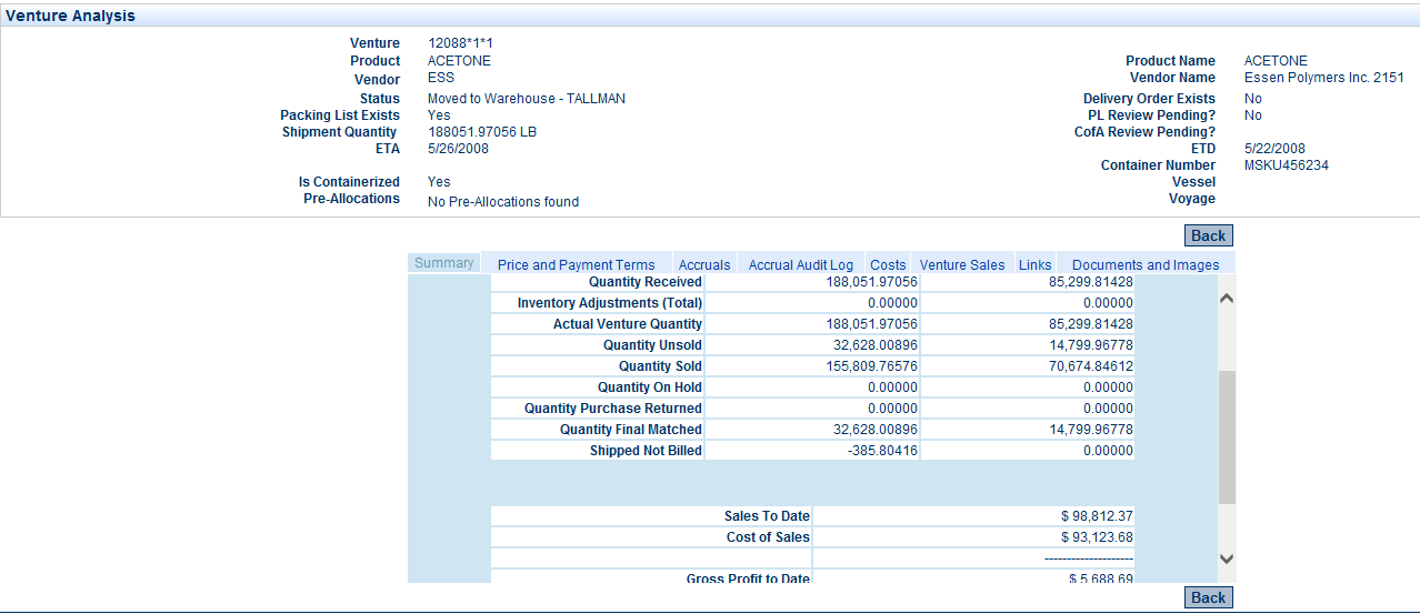 VISCO Software - Landed Cost Tool